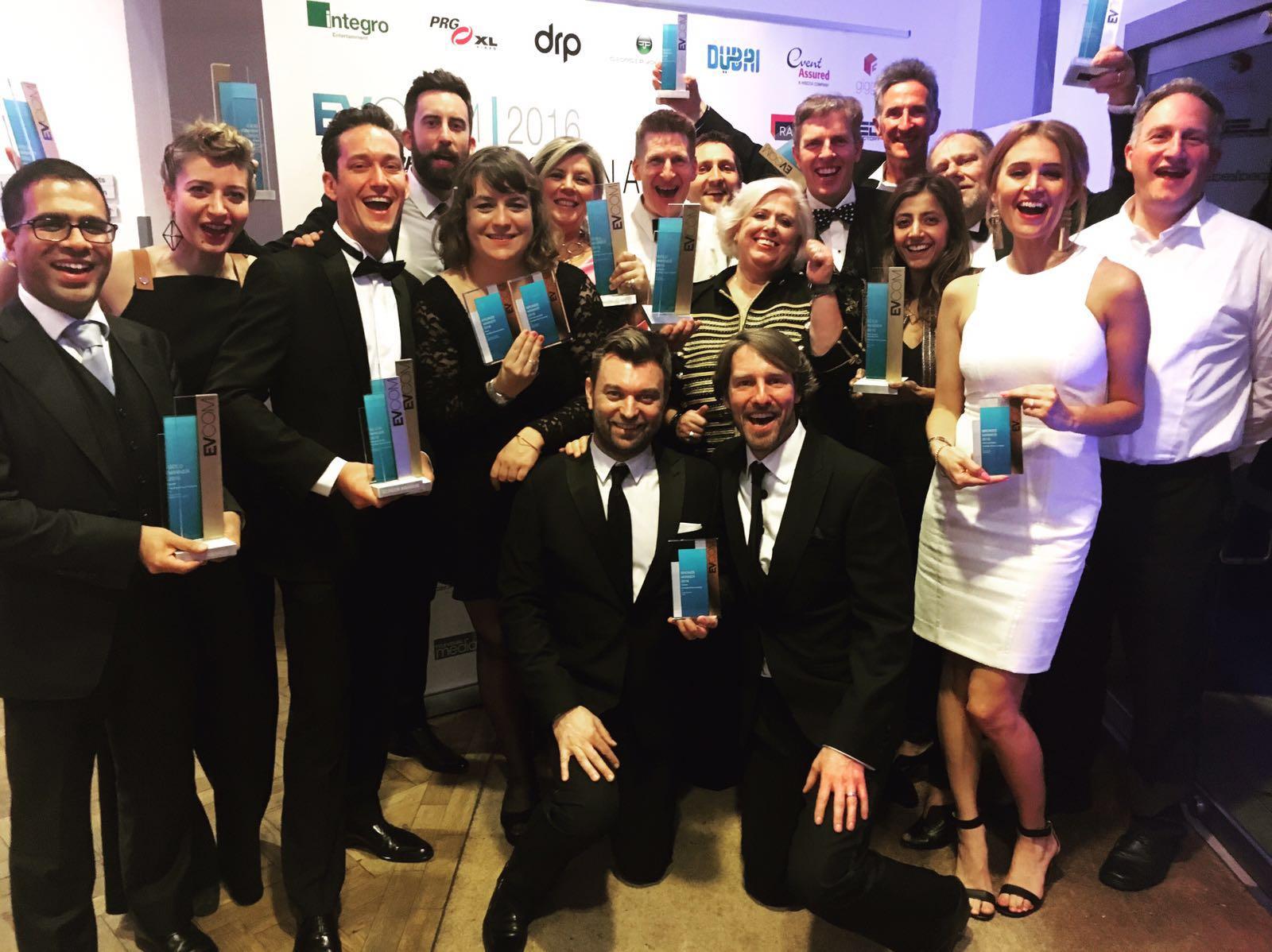 Award photo at the EVCOM Screen Awards 2016